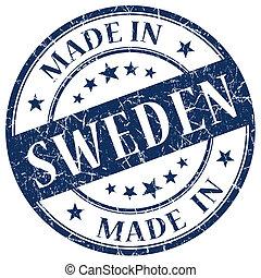 Made In Sweden blue stamp