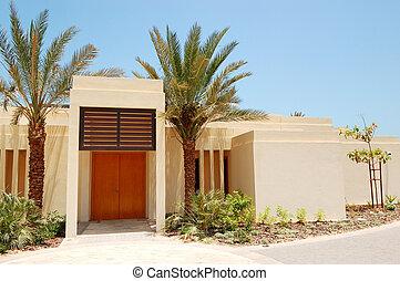 The Arabic style modern villa at luxury hotel, Abu Dhabi,...
