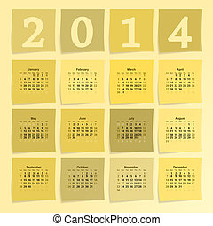 2014 calendar - 2014 new year vector calendar