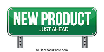 new product road sign illustration design over a white...