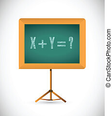 mathematical equation on a chalkboard. illustration design...
