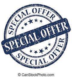 Special Offer blue stamp