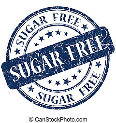 Sugar Free Blue stamp