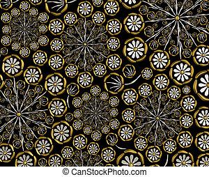 Floral metallic pattern design