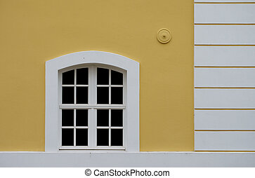 House facade with window