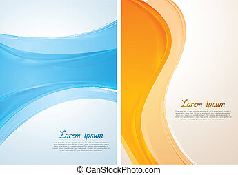 Bright vector waves design - Abstract colourful wavy...