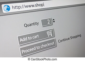 Online Shopping - url of fictitious online shop in address...