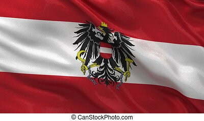 Flag of Austria seamless loop