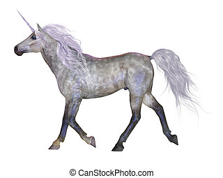 Unicorn on White - The Unicorn is a mythical creature that...