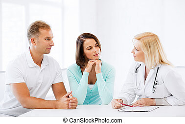 Doctor with patients in cabinet - Healthcare and medical...
