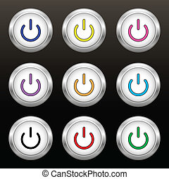 Coloured power buttons