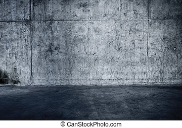 Grungy concrete wall and floor as background