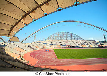 Khalifa sport stadium - Inside Khalifa sports stadium in...