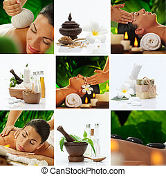 sap mix - Spa theme photo collage composed of different...