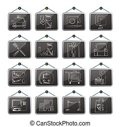 Airport and transportation icons - Airport, travel and...