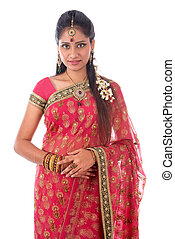 Indian woman portait - Portrait of beautiful young Indian...