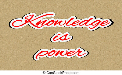 Knowledge is power sticker - Illustration of concept of...