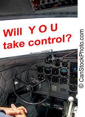 DC3 cockpit pilot hands control