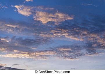 Beauty cloud scape in twilight