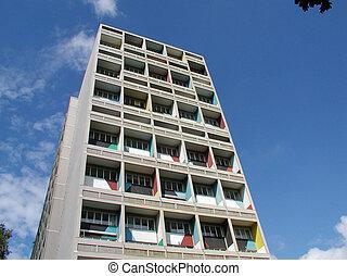Le, (unité, d'habitation), alemania, Berlín, corbusier,...