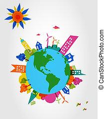 globale, Forme, trasparente, colorito