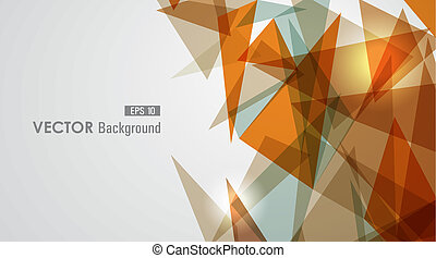 Warm tones geometric transparency - Modern orange...