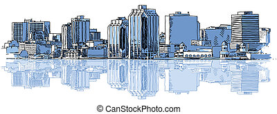 Halifax Skyline - A sketch of the skyline of the city of...