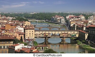 Bridges of Florence, Italy - Bridges of Florence over the...