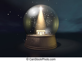 Snow Globe Nativity Scene Night - A regular snow globe...
