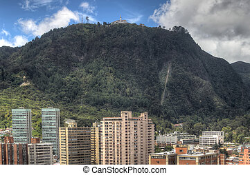 Monserrate mountain in Bogota - Monserrate mountain with...