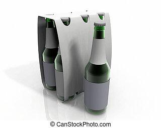 beer - pack of six beer bottles