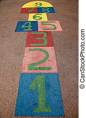 hopscotch - a children game in a school