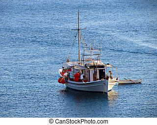 Fishing boat - A fishing boat to the open sea at Greece