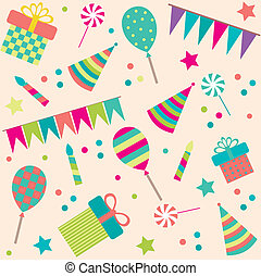seamless background with party stuff - seamless background...