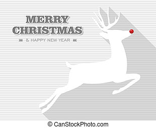 Merry Christmas Rudolph reindeer - Merry Christmas and happy...