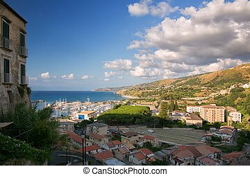 Tropea - View of the beautiful city of Tropea in southern...