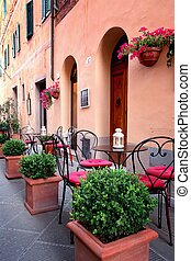 Small cafe in Tuscany, Italy - Typical small cafe in...
