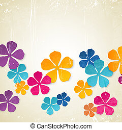 Colored flower backdrop.