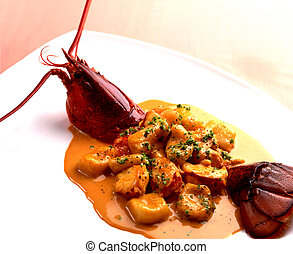 Lobster main dish
