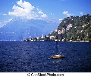 Lake Como, Varena, Italy. - Lake and mountains view Nr...