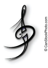 music tattoo - Vector - Vector scroll ornament