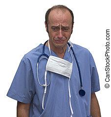 chorando, doutor