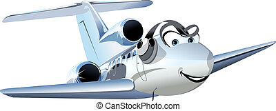Vector Cartoon Civil utility airplane. Available EPS-10...