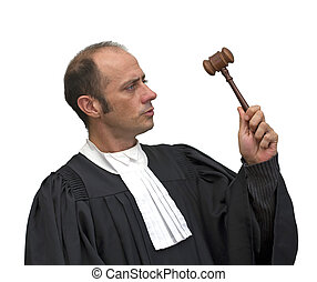 caucasian judge