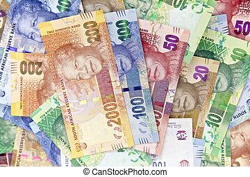 sud, africaine, nouveau, banque, notes