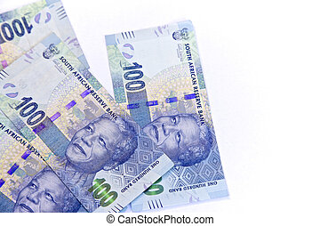 South African, New one hundred bank notes - South African...