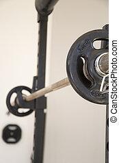 Gim weight - A detail of a weight in a gimnasium