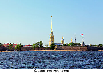 Saint Petersburg - Landscape of Peter and Paul Fortress in...