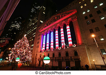Wall Street New York Stock Exchange, the world's largest...
