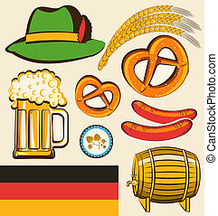 oktoberfest festival objects for design isolated for design...